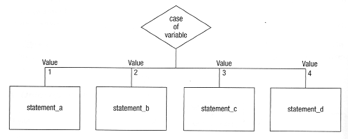 case in pseudocode