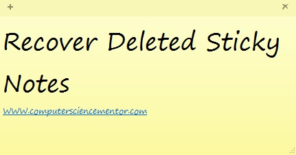 How to recover deleted sticky notes